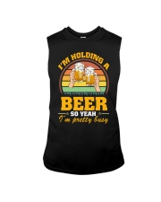 Holding A Beer So Yeah I'm Pretty Busy Fathers Day Sleeveless Tee thumbnail