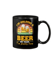 Holding A Beer So Yeah I'm Pretty Busy Fathers Day Mug thumbnail