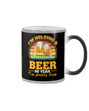 Holding A Beer So Yeah I'm Pretty Busy Fathers Day Color Changing Mug thumbnail