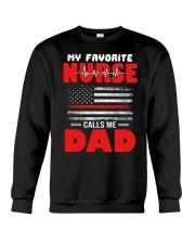 Favorite Nurse Calls Me Dad American Flag Nurse Crewneck Sweatshirt thumbnail
