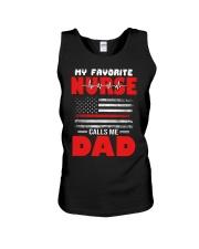 Favorite Nurse Calls Me Dad American Flag Nurse Unisex Tank thumbnail