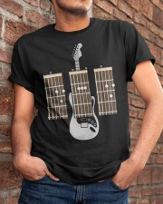 Guitarist Dad Fathers Day Guitar Chords Classic T-Shirt apparel-classic-tshirt-lifestyle-26
