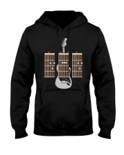 Guitarist Dad Fathers Day Guitar Chords Hooded Sweatshirt thumbnail