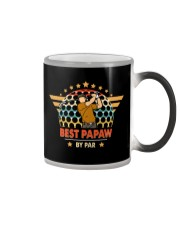 Best Papaw By Par Daddy Father's Day Color Changing Mug tile
