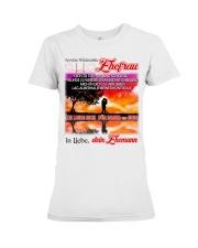 AN MEINE EHEFRAU - DEIN EHEMANN Premium Fit Ladies Tee thumbnail