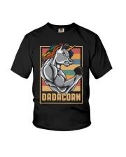 Dadacorn Unicorn Muscle Baby FathersDay  Youth T-Shirt thumbnail