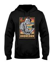 Dadacorn Unicorn Muscle Baby FathersDay  Hooded Sweatshirt thumbnail