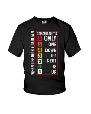 When Life Gets You Down Remember It's One Down  Youth T-Shirt thumbnail