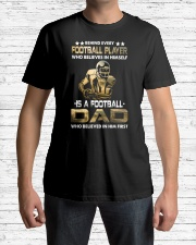 Behind Every Football Player is A Football Dad Premium Fit Mens Tee lifestyle-mens-crewneck-front-1