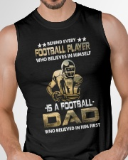 Behind Every Football Player is A Football Dad Sleeveless Tee garment-tshirt-tanktop-detail-front-chest-01
