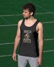 Behind Every Football Player is A Football Dad Unisex Tank apparel-tshirt-unisex-sleeveless-lifestyle-front-03