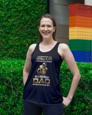 Behind Every Football Player is A Football Dad Ladies Flowy Tank lifestyle-bellaflowy-tank-front-2