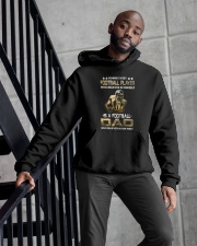 Behind Every Football Player is A Football Dad Hooded Sweatshirt apparel-hooded-sweatshirt-lifestyle-front-10