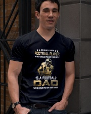 Behind Every Football Player is A Football Dad V-Neck T-Shirt lifestyle-mens-vneck-front-2