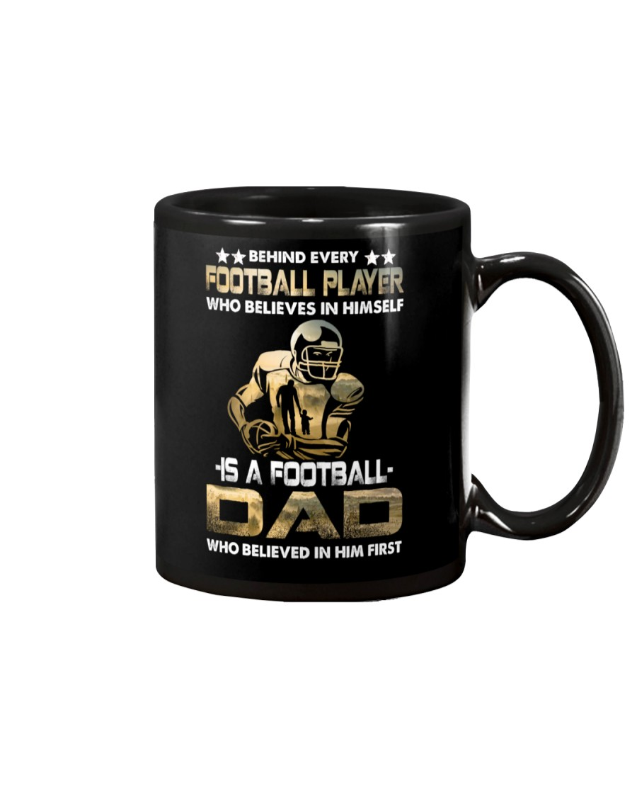 Behind Every Football Player is A Football Dad Mug