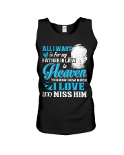 I Miss My Father in Law in Heaven Father's Day Unisex Tank thumbnail