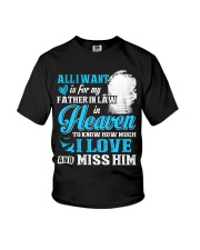 I Miss My Father in Law in Heaven Father's Day Youth T-Shirt thumbnail