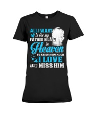 I Miss My Father in Law in Heaven Father's Day Premium Fit Ladies Tee thumbnail