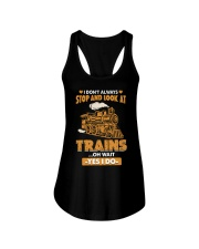 Stop Look at Trains Funny Gift for Men Women Ladies Flowy Tank thumbnail