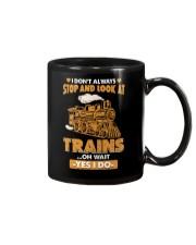 Stop Look at Trains Funny Gift for Men Women Mug thumbnail