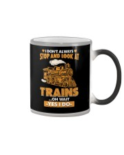 Stop Look at Trains Funny Gift for Men Women Color Changing Mug thumbnail