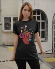 Anatomical Heart and Flowers T-Shirt For Women Men Classic T-Shirt apparel-classic-tshirt-lifestyle-19