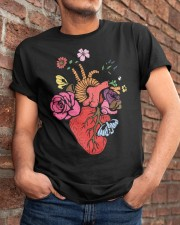 Anatomical Heart and Flowers T-Shirt For Women Men Classic T-Shirt apparel-classic-tshirt-lifestyle-26