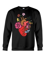 Anatomical Heart and Flowers T-Shirt For Women Men Crewneck Sweatshirt thumbnail