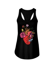 Anatomical Heart and Flowers T-Shirt For Women Men Ladies Flowy Tank thumbnail