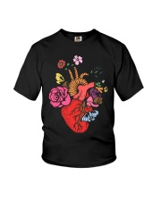 Anatomical Heart and Flowers T-Shirt For Women Men Youth T-Shirt thumbnail