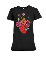 Anatomical Heart and Flowers T-Shirt For Women Men Premium Fit Ladies Tee thumbnail