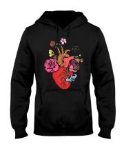 Anatomical Heart and Flowers T-Shirt For Women Men Hooded Sweatshirt thumbnail