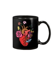 Anatomical Heart and Flowers T-Shirt For Women Men Mug thumbnail