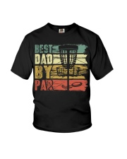 Best Dad By Par Funny Disc Golf Gift For Men Dad Youth T-Shirt thumbnail