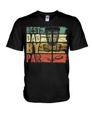 Best Dad By Par Funny Disc Golf Gift For Men Dad V-Neck T-Shirt thumbnail