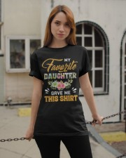 My Favorite Daughter Gave Me This Shirt Fathers Classic T-Shirt apparel-classic-tshirt-lifestyle-19