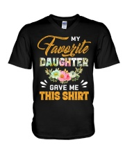 My Favorite Daughter Gave Me This Shirt Fathers V-Neck T-Shirt thumbnail