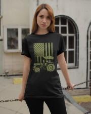 Funny Patriotic Tractor American FlagTractor Farm Classic T-Shirt apparel-classic-tshirt-lifestyle-19