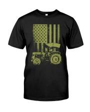 Funny Patriotic Tractor American FlagTractor Farm Premium Fit Mens Tee thumbnail