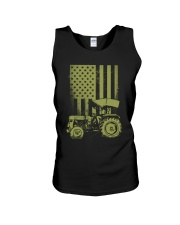 Funny Patriotic Tractor American FlagTractor Farm Unisex Tank thumbnail
