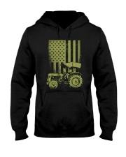 Funny Patriotic Tractor American FlagTractor Farm Hooded Sweatshirt thumbnail