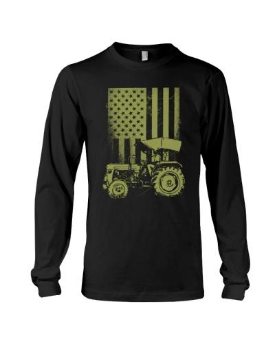 Funny Patriotic Tractor American FlagTractor Farm