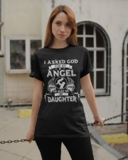 Mens I Asked God For An Angel He Sent Me  Daughter Classic T-Shirt apparel-classic-tshirt-lifestyle-19