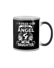 Mens I Asked God For An Angel He Sent Me  Daughter Color Changing Mug thumbnail