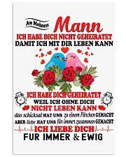 AN MEINEN MANN - FUR IMMER UND EWIG 11x17 Poster thumbnail