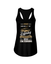 In My Head I'm Fishing Funny Fathers Day Ladies Flowy Tank thumbnail
