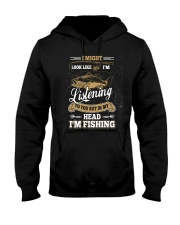 In My Head I'm Fishing Funny Fathers Day Hooded Sweatshirt thumbnail