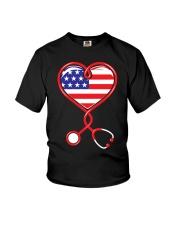 Patriotic Nurse USA Flag Shirt Nursing 4th July  Youth T-Shirt thumbnail
