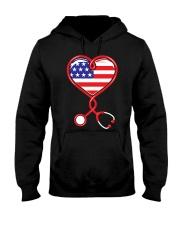 Patriotic Nurse USA Flag Shirt Nursing 4th July  Hooded Sweatshirt thumbnail