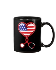 Patriotic Nurse USA Flag Shirt Nursing 4th July  Mug thumbnail